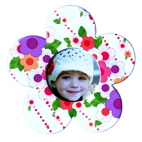 Magnet floare inserție foto - multicolor