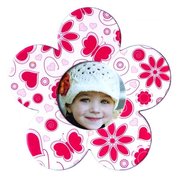 Magnet floare inserție foto - roz