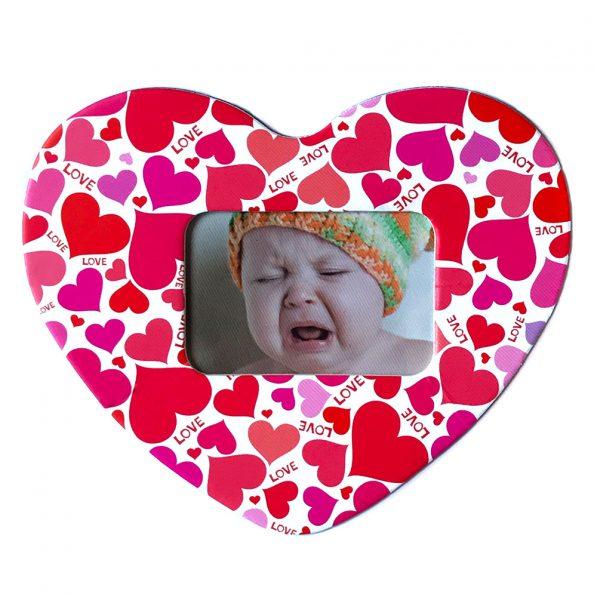 Magnet inimă inserție foto - model Love