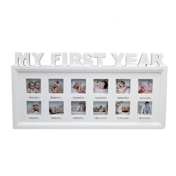 Ramă foto colaj 12 poze - model My First Year 1