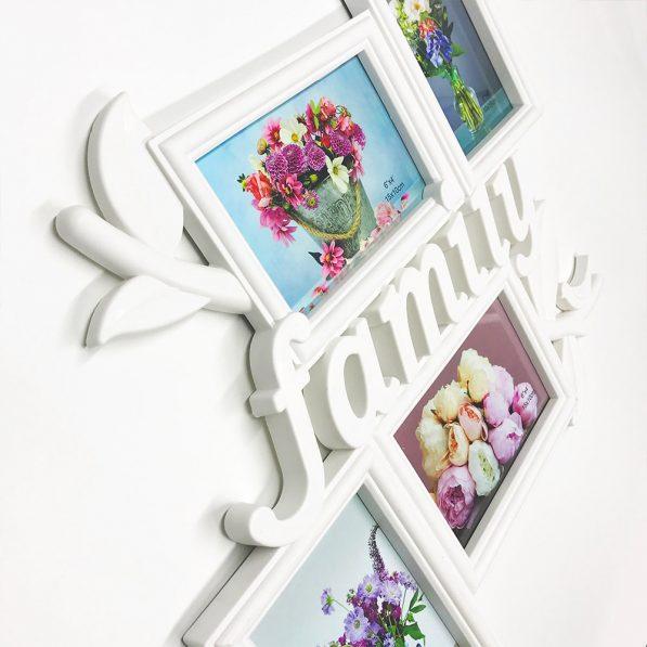 Ramă foto colaj 4 poze - model Family 2