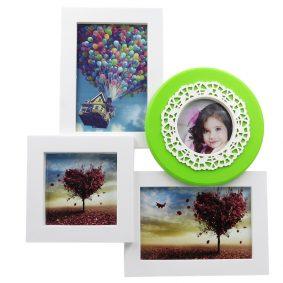 Ramă foto colaj 4 poze - verde 1