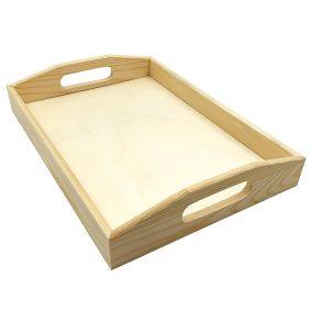 Tavă din lemn cu mânere 1