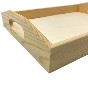 Tavă din lemn cu mânere 2
