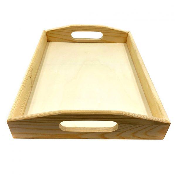 Tavă din lemn cu mânere 3