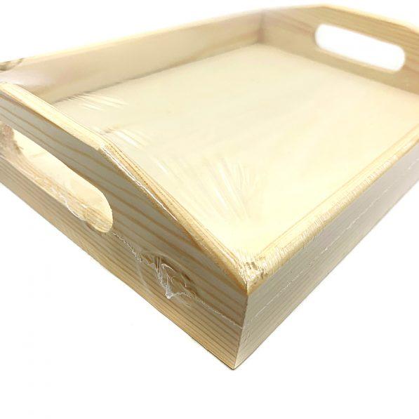 Tavă din lemn cu mânere 4