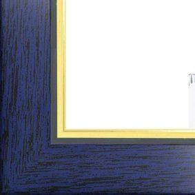 Ramă foto A4 - model Madrid albastru-auriu 2