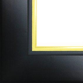 Ramă foto A4 - model Madrid negru-auriu 2