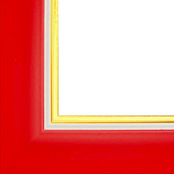 Ramă foto A4 - model Madrid roșu-auriu 2