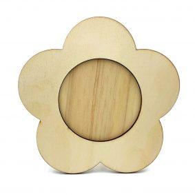 Ramă foto lemn - floare 1