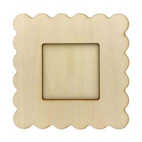 Ramă foto lemn - ondulată 1