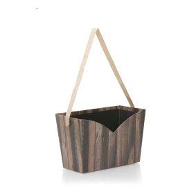 Cutie dreptunghiulară decupată cu mâner - imitație lemn 1 - craftup.ro