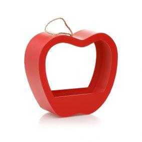 Cutie în formă de măr cu mâner - roșu 1 - craftup.ro