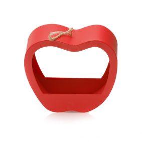Cutie în formă de măr cu mâner - roșu 2 - craftup.ro