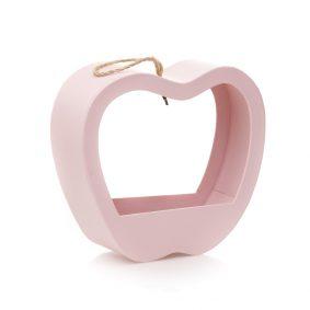 Cutie în formă de măr cu mâner - roz 1 - craftup.ro