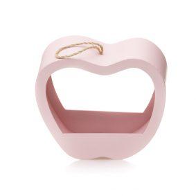 Cutie în formă de măr cu mâner - roz 2 - craftup.ro