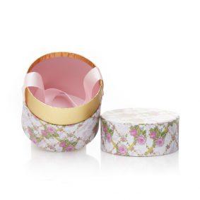 Cutie rotundă cu fundă - model primăvară 3 - craftup.ro