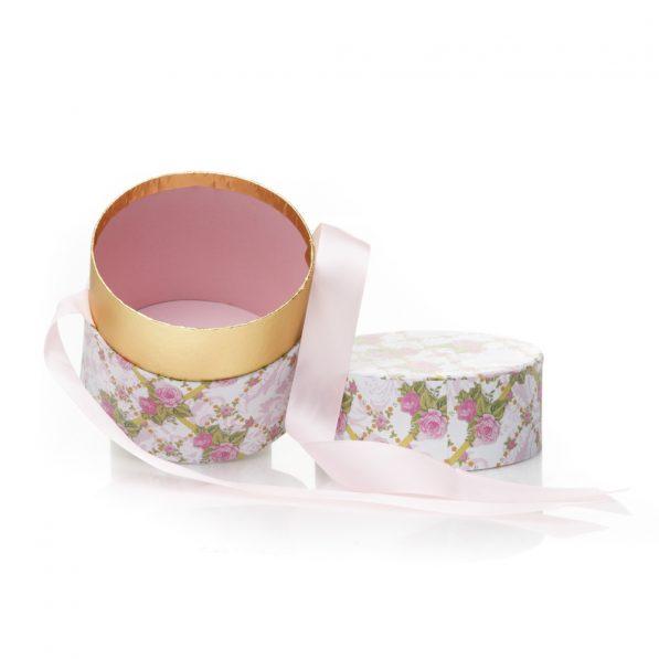 Cutie rotundă cu fundă - model primăvară 4 - craftup.ro