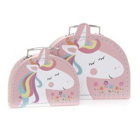 Set 2 cutii pentru copii - model unicorn 1 - craftup.ro