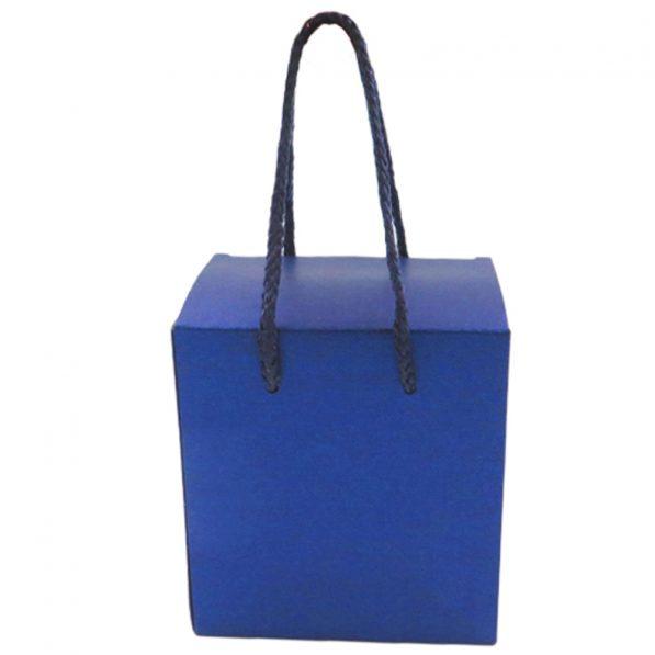 Cutie pătrată cu mâner - albastru 1
