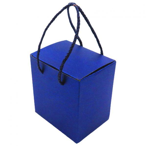 Cutie pătrată cu mâner - albastru 3