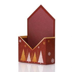 Cutie tip plic de Crăciun - model fulgi de gheață 1 - craftup.ro