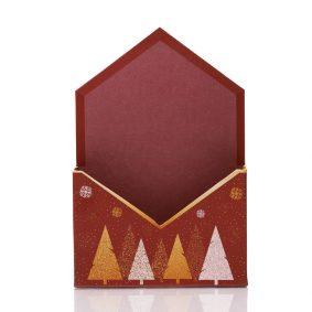 Cutie tip plic de Crăciun - model fulgi de gheață 2 - craftup.ro