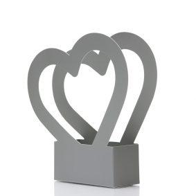 Cutii cu mâner inimă - gri 1 - craftup.ro