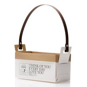 Cutii cu mâner model Think of you - alb 1 - craftup.ro