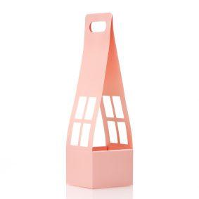 Cutii cu mâner tip căsuță - roz 1 - craftup.ro