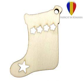Ornament de brad lemn - ciorap 1