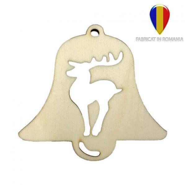 Ornament de brad lemn - clopoțel 1