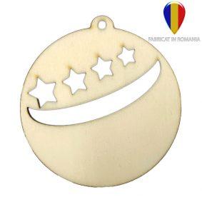 Ornament de brad lemn - rotund 1