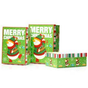 Set 3 cutii dreptunghiulare Crăciun - model om de zăpadă festiv 1 - craftup.ro