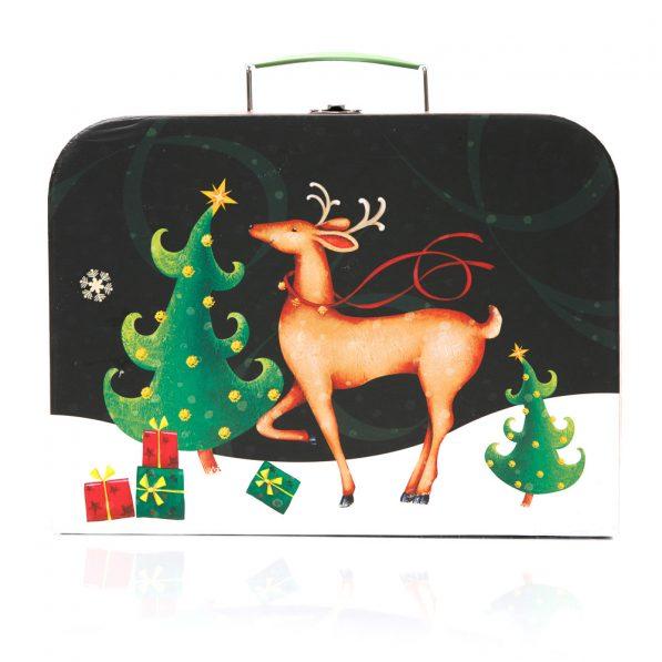 Set 3 cutii tip geantă Crăciun - model Rudolf 2 - craftup.ro