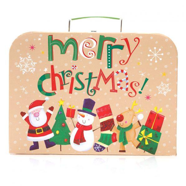 Set 3 cutii tip geantă Crăciun - model familia moșului 2 - craftup.ro