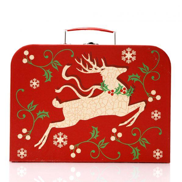Set 3 cutii tip geantă Crăciun - model reni 2 - craftup.ro