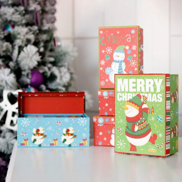 Set 3 cutii dreptunghiulare Crăciun - mix 1 - craftup.ro