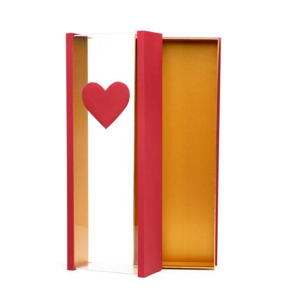 Cutie dreptunghiulară mare cu inimă - roșu 3 - craftup.ro
