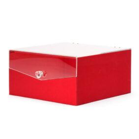 Cutie pătrată cu fereastră și mâner rotund - roșu 1 - craftup.ro