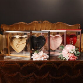Cutie pătrată cu inimă în interior - craftup.ro