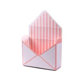 Cutii tip plic roz cu dungi albe 1 craftup.ro