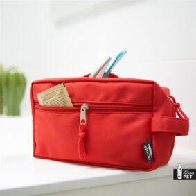 Geantă cosmetice din material reciclat – roșu 1