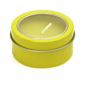 Lumânare parfumată cu capac – galben 1