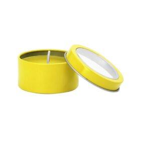 Lumânare parfumată cu capac – galben 2