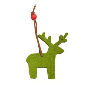 Ornament de brad textil ren – verde (set 10buc) 1