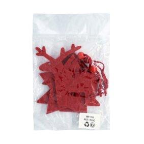 Set 3 ornamente de brad – roșu 2