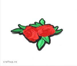 Aplicații termoadezive - doi trandafiri - PTW11 - craftup.ro