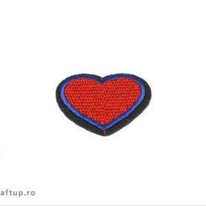 Aplicații termoadezive - inimă - PTW5 - craftup.ro