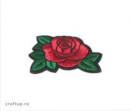 Aplicații termoadezive - trandafir - PTW7 - craftup.ro